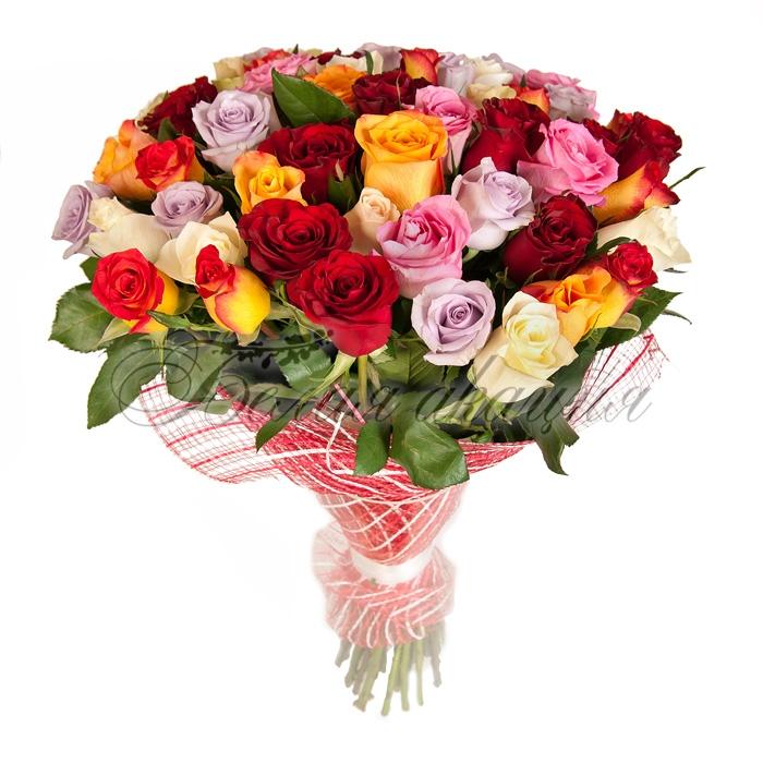 Заказать 51 розу с доставкой дешево